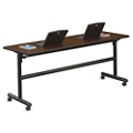 "Merit Flip Top Training Table with Casters - 72""W x 24""D, 41813"