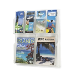 Clear Plastic Six Pocket Magazine and Pamphlet Rack, 33129
