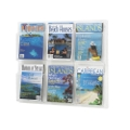 Clear Plastic Six Pocket Magazine Rack, 33130