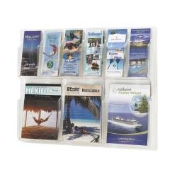 Clear Plastic Nine Pocket Magazine and Pamphlet Rack, 33131