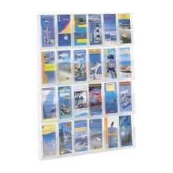 Clear Plastic 24 Pocket Pamphlet Rack, 33132