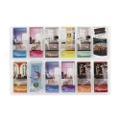 Clear Plastic Twelve Pocket Pamphlet Rack, 33135
