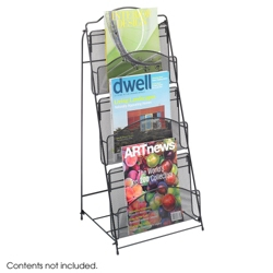 Three Pocket Mesh Magazine Rack, 36342