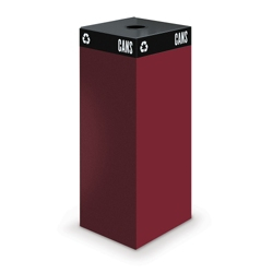 "Steel Waste Receptacle with Round Top - 38""H, 90840"