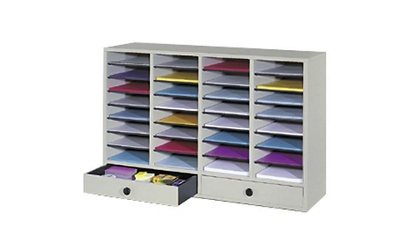 Wood Organizer with 32 Slots and 2 Drawers, 36855