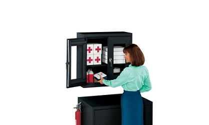 "Lockable Wall Mounted Cabinet - 30""W x 12""D, 14824"