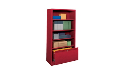 "Bookcase with File Drawer 72"" High, 32177"