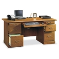 Carolina Oak Double Pedestal Desk, 13058S