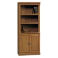 Carolina Oak Five Shelf Bookcase with Lower Doors, 13060S