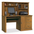 Carolina Oak Computer Desk with Hutch, 13061
