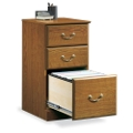 Carolina Oak Three Drawer Storage and File Cabinet, 13066