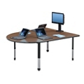 Adjustable Height Multimedia Conference Table with Data Port, 41697-1