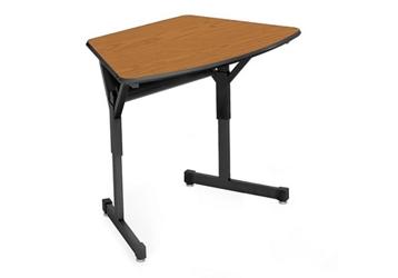 "Arc Shape School Desk - 22""D, 10312"