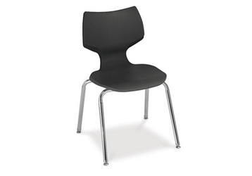 "16""H Sculpted-Back Student Stack Chair, 51231"