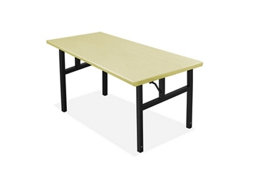 "Aluminum Folding Table with H-Style Leg 30"" W x 60"" L, 46771"