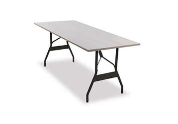 "Aluminum Folding Table 30""x72"" with Wishbone Style Legs, 46790"