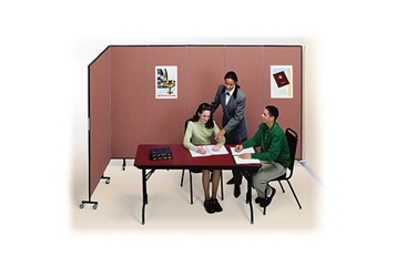 "7 Panel Wall Partition 12'10""w x 6'h, 20886"