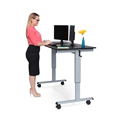 "Sit to Stand Desk - 60""W , 16388"