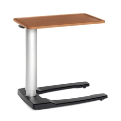"Adjustable Height Overbed Table with U-Base- 32""W , 25735"