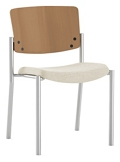 Pediatric Stacking Chair with Wood Back, 26731