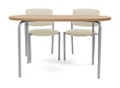 "Kidney-Shaped Pediatric Table - 40""W, 26735"