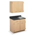 "Cabinet with Right Hand Sink and Wall Cabinet - 36""W, 44607"