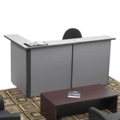 Compact Reversible Reception L-Desk, 20984