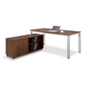 Pacifica Collection Table Desk with Low Credenza, 14702