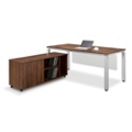 Pacifica Collection Table Desk with Low Credenza, 10346