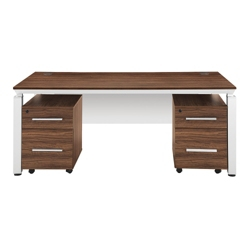Pacifica Collection Double Pedestal Executive Desk, 12030