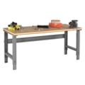 "Adjustable Height Compressed Wood Top Work Bench - 60"" x 30"", 41636"