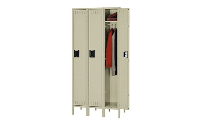 Single Tier Locker 3 Wide With Legs, 31932