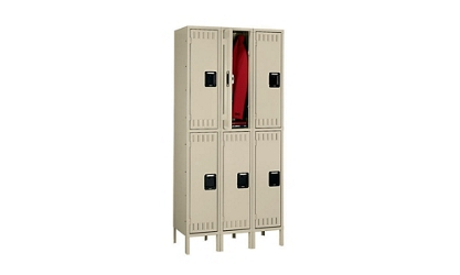Double Tier Lockers 1 Wide With Legs, 31936
