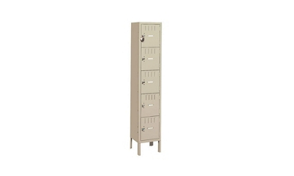 6 Tier Box Lockers 1 Wide With Legs, 31980