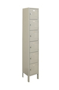 "Six-Tier Locker - 12""W x 15""D x 78""H, 36887"