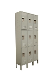 "Three Wide Three-Tier Locker - 36""W x 12""D x 78""H, 36884"