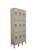 "Three Wide Three-Tier Locker - 36""W x 15""D x 78""H, 36885"