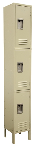 "Three-Tier Locker - 12""W x 15""D x 78""H, 36883"