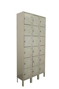 "Three Wide Six-Tier Locker - 36""W x 12""D x 78""H, 36889"