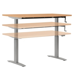 "Adjustable Height Table with Hand Crank - 48"" x 24"", 41564"