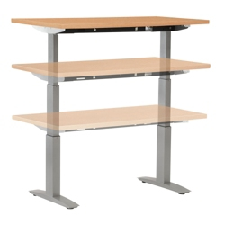 "Adjustable Height Table with Electric Lift - 72"" x 24"", 41572"