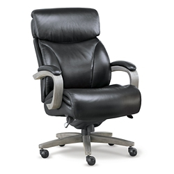 La-Z Boy Revere Big and Tall Executive Office Chair in Top Grain Leather, 50700