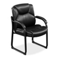 Omega Faux Leather Guest Chair with 350 lb. Weight Capacity, 50838