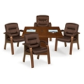 Stamford Wood Frame Guest Chair - Set of Four, 55643