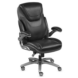 Avanti Faux Leather Executive Chair with Flip Arms, 56985