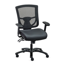 Overtime 24/7 Mesh-Back Chair with Leather Seat, 51752