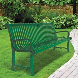 Charleston Steel Bench 6' W, 85962