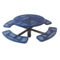 "46"" Round In-Ground Mount Outdoor Table, 91373"