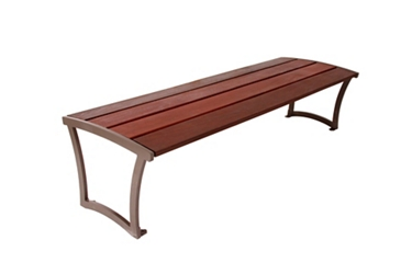 Wood Slat Bench - 8 ft, 82801