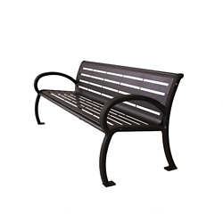 Steel Bench with Armrests - 4 ft, 82805